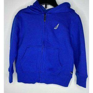 Nautica Boys Toddler Hoodie Jacket Blue Full Zip L